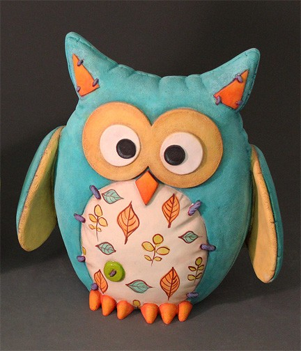 Unpainted Ceramic Felty Owl