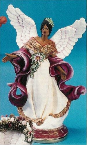 "African Amer. Christmas Angel 12""T"