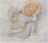 """Winter Cherub Sleeping 4""""T"""
