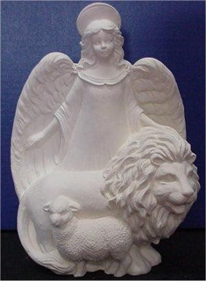 "Gare's Angel w/Lion 12.5""T"