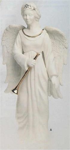 """Angel w/Horn 12""""T"""