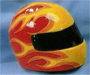 Racing Helmet Bank 6.25 x 5""