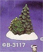 "Village Tree & Bushes 4""t"