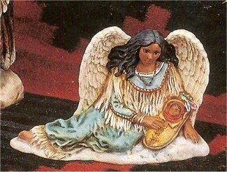 "Prov. Indian Angel w/Baby 5.5""T"