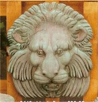 "CPI Lion's Face Plaque 10""l"