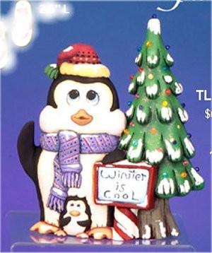 "CPI Penguin w/Tree Lite Up 13""t  pinlites included"