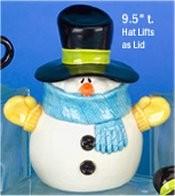 """CPI Snowman Cookie Jar 9.5""""t"""