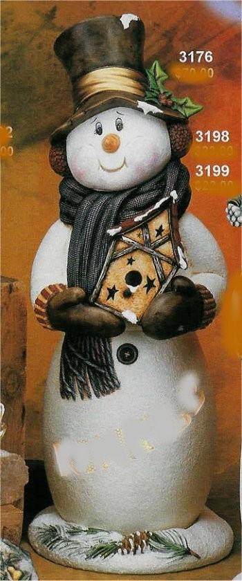 "CPI Snowman w/Birdhouse 29""T"