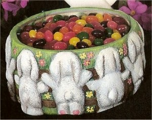 "Bunny Bowl 6.75""D contents Not Included"
