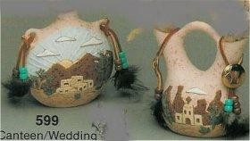 "Canteen/Wedding Vase Set acc/nicld. 4.5""T"