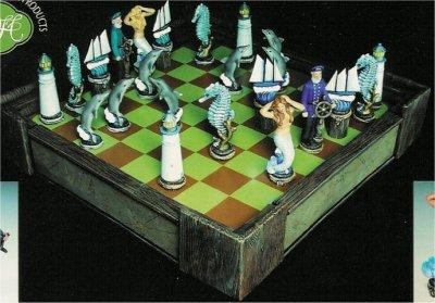 Nautical Chess Set Board & Walls included