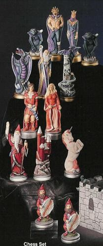 """Myst. Chess Figures Only 7""""T Unpainted"""