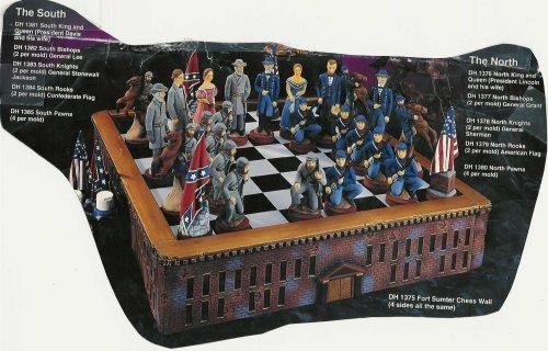 Civil War Chess Set Board includedUnpainted