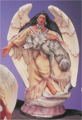 "Angel w/Wolf 12""T"