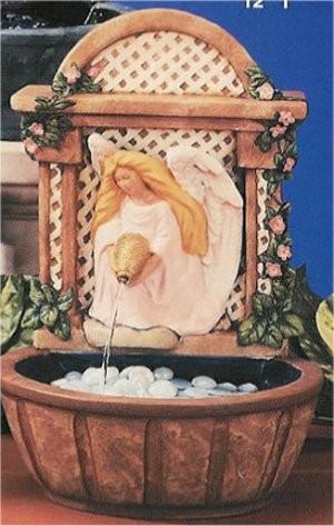 "Angel Fountain 13""H  Inside glazed"