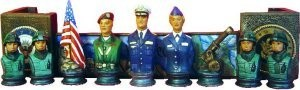 "Army Chess Figures Only 4-6""T"