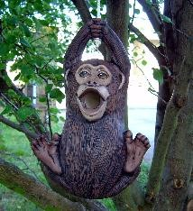 """DH Monkey Birdhouse 12.5x8.5"""" rope kit included"""