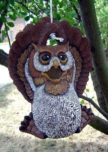 """DH Owl Birdhouse 11x8"""" rope kit included"""