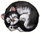 "DH Cloey Cat Plaque/Stone 9"""