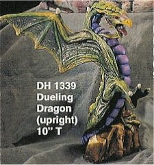 """Dueling Dragon Standing 10""""t"""