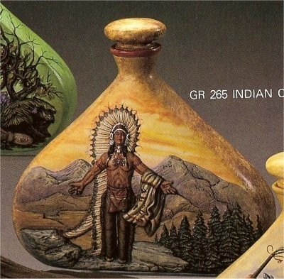 """Indian Chief Decanter 9""""t"""