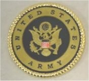 "Army Insignia or Coaster 3 5/8"" D"