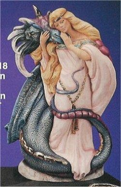 """Maiden with Dragon 12""""T"""