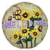 """Butterfly Welcome Slab/Plaque 11"""""""