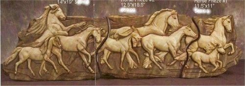 """Horse Frieze Set of Three 48.5""""L x 12.5W"""