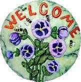 Welcome Bee Slab/Plaque 11""