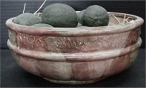 """Home Decor Bowl 4""""t  9.5""""dia contents not included"""