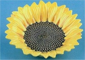 "Small Sunflower Bowl 6""d"