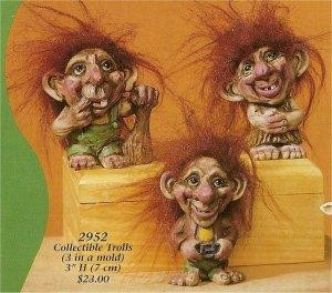 """Troll Trio 3""""t  Hair Not Included"""