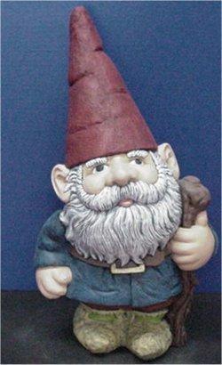 """Large Garden Gnome 21""""t  Unpainted"""