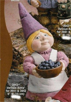 "Gnome Lady w/Bowl/ fruit not includ 13""T"