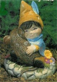 "Boy Gnome w/Mouse 3.5""T"