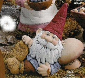 "Gnome w/Toadstool 10""W"