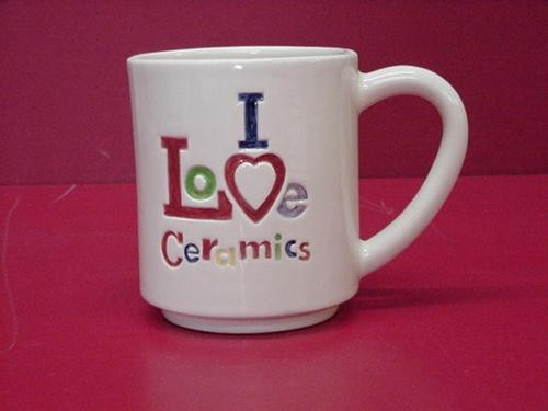 "I Luv Ceramics Mug 4.5""T"