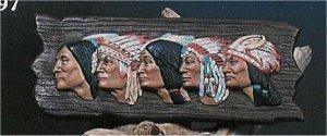 "Chiefs & Braves  Plaque 17""x7"""