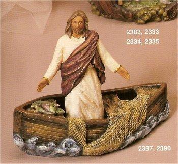 """Jesus In Boat 7.5""""t x 9""""L"""