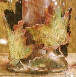 """Mayco Leaf Candle holder7.5""""t x 6.5""""w"""