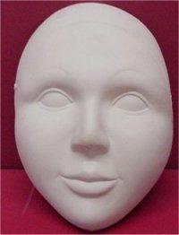 """Plain Mask w/Eyes 7.5""""H"""