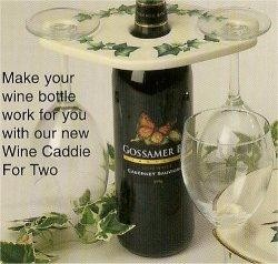 """Wine Caddie For Two 8.5x5.5"""" Acc. not included"""