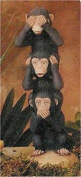 "See No Evil Monkeys 10.5""T"