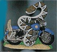 "Motorcycle w/Snake 7x7.5"""