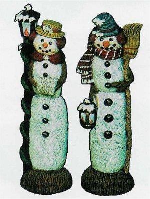 """Nowells Mr & Mrs Snowman Set 9""""t"""