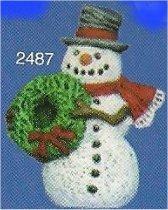 "Snowman w/Wreath Orn. 3""t"