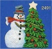 """Snowman w/Tree Orn. 3""""T"""
