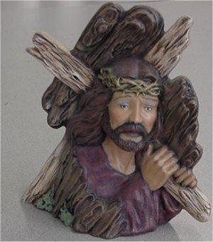 """Jesus w/Cross 8 1/4"""""""