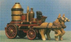 "Petro Horse Drawn Firewagon 3""t x 5""L"